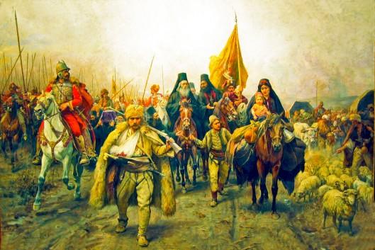 Migration of the Serbs, 1896 (Paja Jovanovic)
