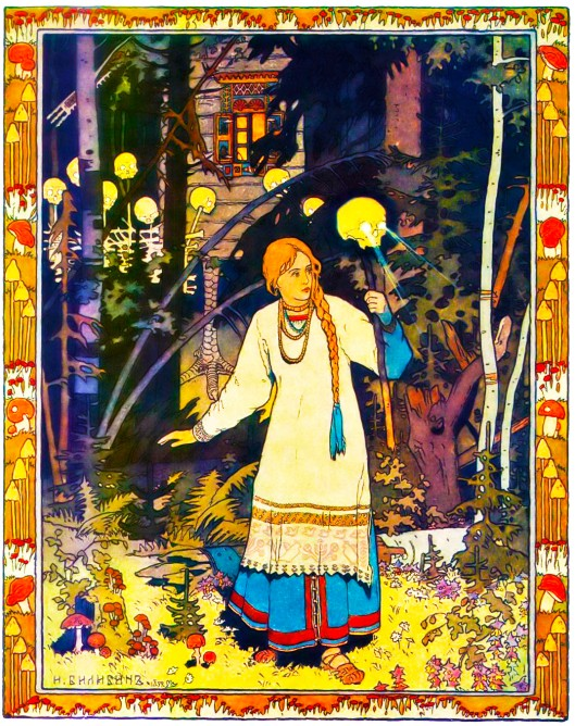 Vasilissa the Beautiful by Ivan Bilibin